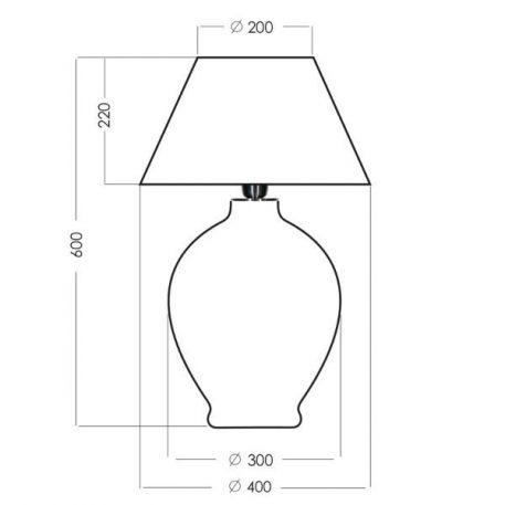Lampa stołowa szklane biały, Zielony  - Salon