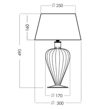 Lampa stołowa szklane miedź, transparentny, Czarny  - Sypialnia