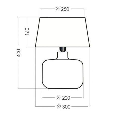 Lampa stołowa szklane transparentny, złoty, Czarny  - Sypialnia