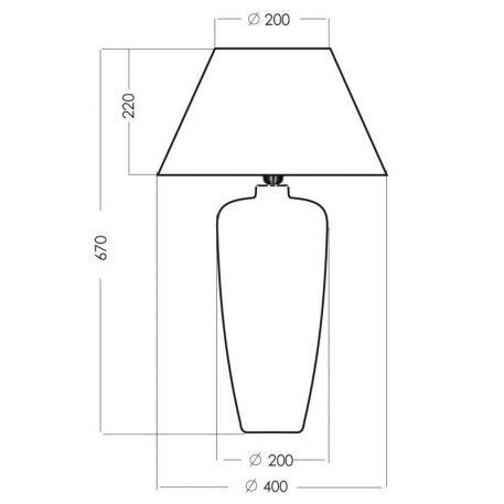 Lampa stołowa Z abażurem beżowy, Szary, Zielony  - Sypialnia