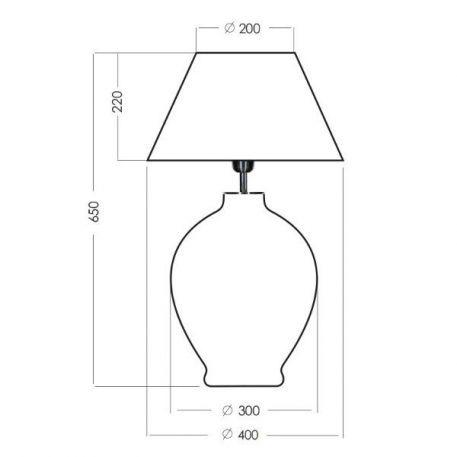 Lampa stołowa Z abażurem beżowy, transparentny, Szary  - Salon