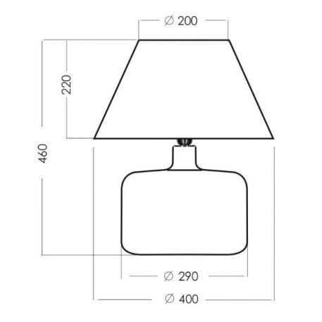 Lampa stołowa Z abażurem biały, transparentny  - Sypialnia