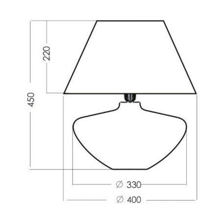 Lampa stołowa Z abażurem biały, Zielony  - Sypialnia