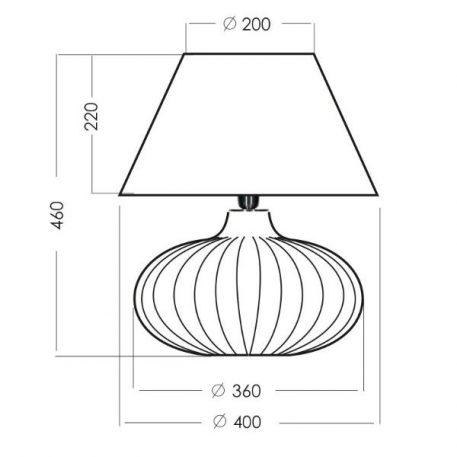 Lampa stołowa Z abażurem transparentny, Szary  - Sypialnia