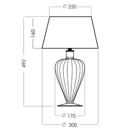 Lampa stołowa Z abażurem transparentny, złoty, Czarny, Szary  - Salon