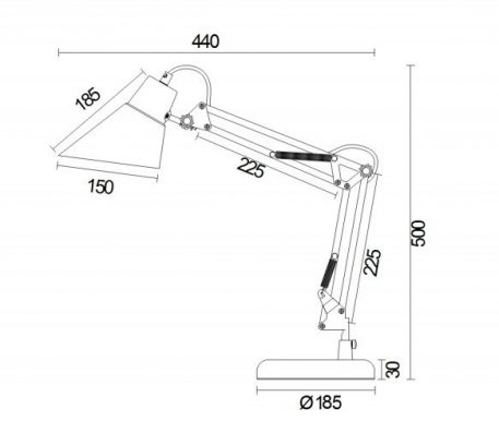 Lampa stołowa - Z136-TL-01-GN