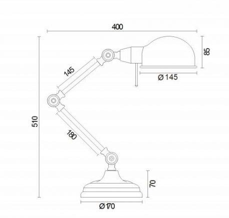Lampa stołowa - Z137-TL-01-GR