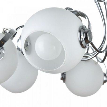 Lampa sufitowa - chrom, szklane klosze - Maytoni