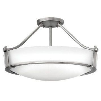 Hathaway Plafon – szklane – kolor biały, srebrny