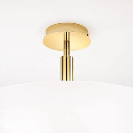 Lampa sufitowa klasyczny biały, złoty  - Sypialnia