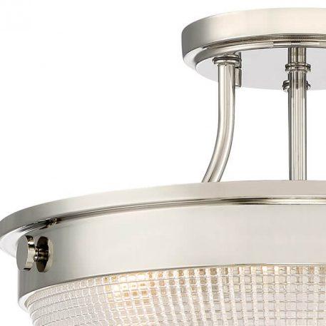 Lampa sufitowa klasyczny srebrny, transparentny  - Salon