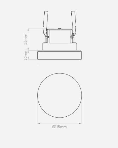 Lampa sufitowa - polerowany chrom , szkło - Astro