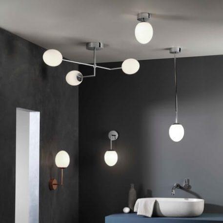 Lampa sufitowa - polerowany chrom, szkło - Astro