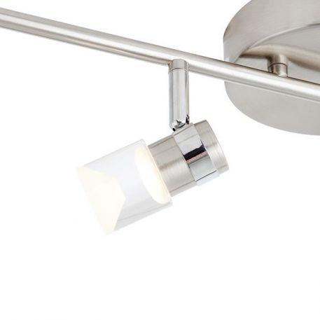 Lampa sufitowa - szczotkowany chrom, akryl - Endon