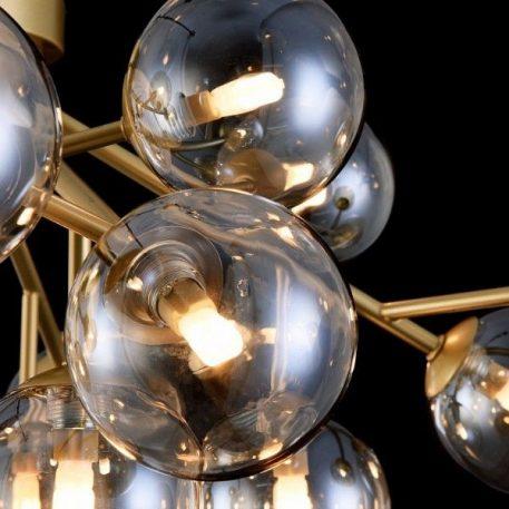Lampa sufitowa - szklane - beżowy, złoty -  - Sypialnia