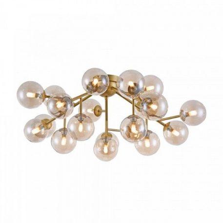 Lampa sufitowa szklane beżowy, złoty  - Sypialnia
