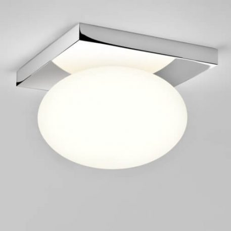 Lampa sufitowa szklane biały, srebrny  - Łazienka