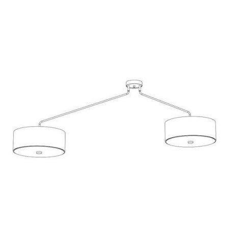 Lampa sufitowa Z abażurem Szary  - Sypialnia