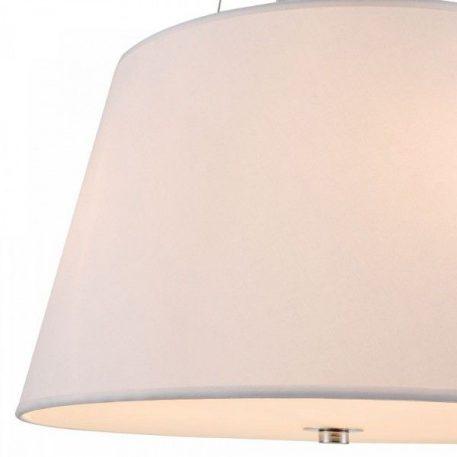 Lampa wisząca - biała tkanina, chrom, szkło - Maytoni