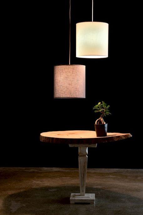 Lampa wisząca - biała tkanina - Gie El Home