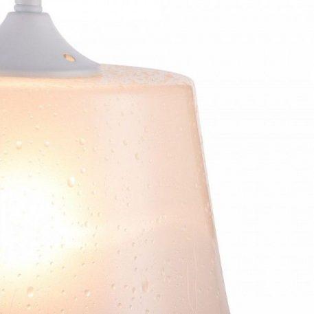 Lampa wisząca - białe szkło z efektem kropli wody - Maytoni