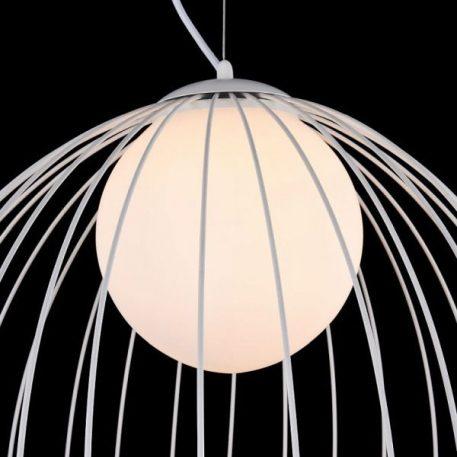 Lampa wisząca - Biały metal, mleczne szkło - Maytoni