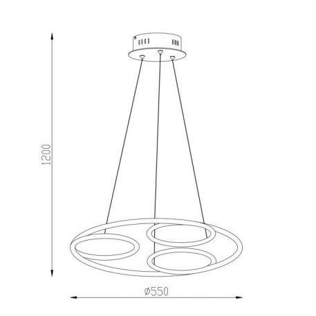 Lampa wisząca - chrom, akryl - Zuma Line