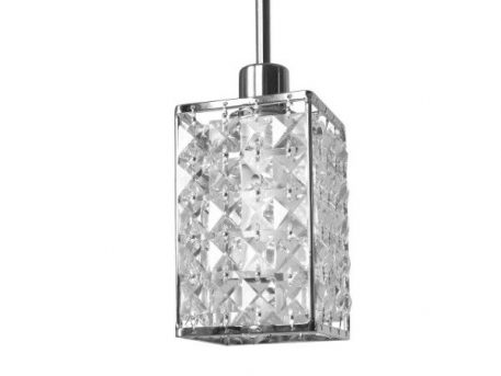 Lampa wisząca - chrom, kryształki - Auhilon