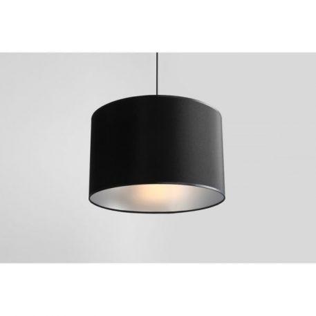 Lampa wisząca - czarny abażur srebrny w środku - Aldex