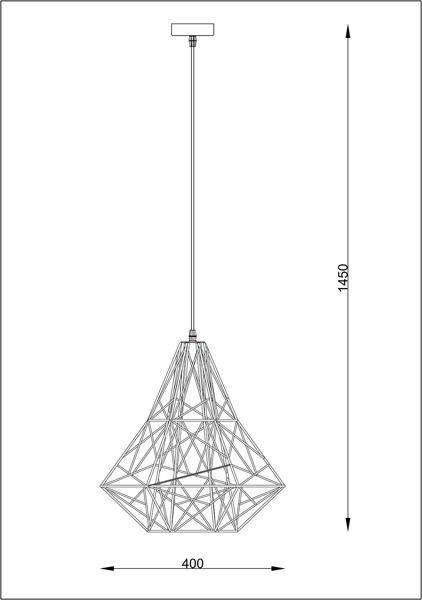 Lampa wisząca - czarny metal, plastik - Zuma Line