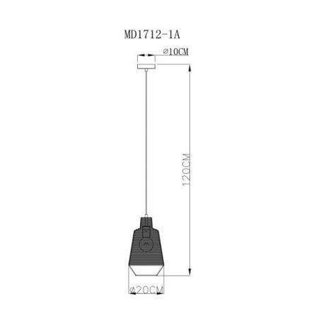 Lampa wisząca - czarny metal - Zuma Line
