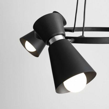 Lampa wisząca - czarny, srebrny metal - Aldex