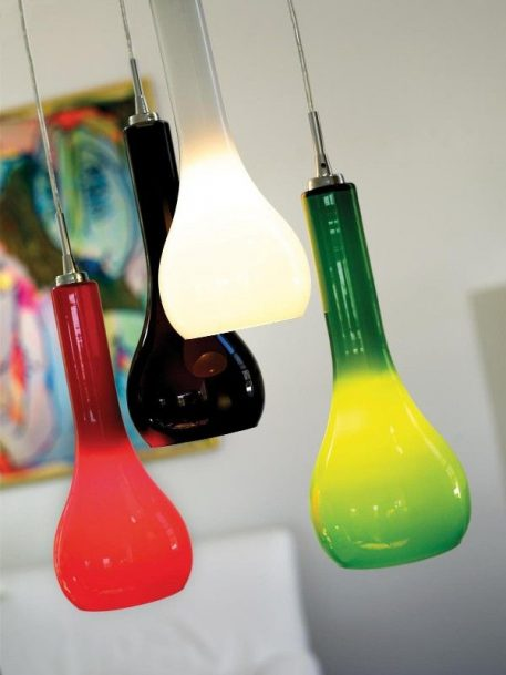 Lampa wisząca - czerwone szkło - Nordlux