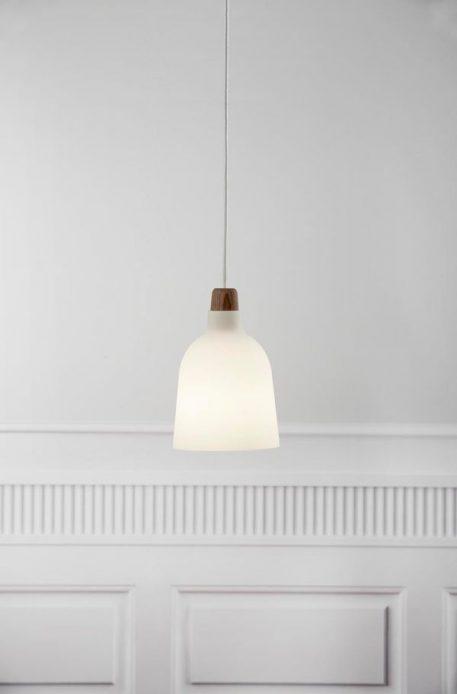 Lampa wisząca Drewniane biały, brązowy  - Sypialnia
