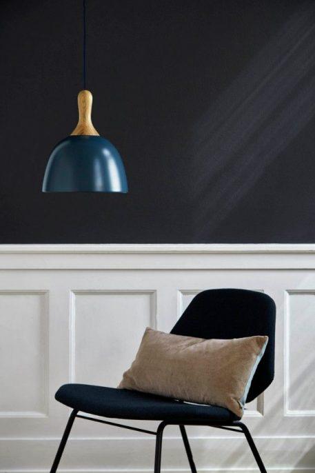 Lampa wisząca Drewniane Niebieski  - Sypialnia