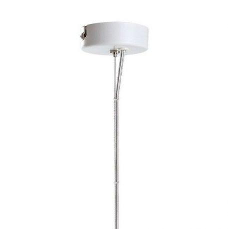 Lampa wisząca - drewno- dąb, szkło kryształowe - bezbarwne, białe zawiszenie - Dreizehngrad