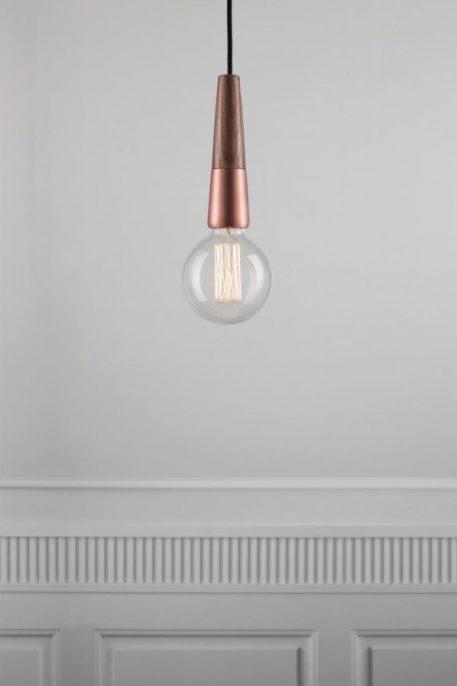Lampa wisząca industrialny brązowy, miedź  - Salon