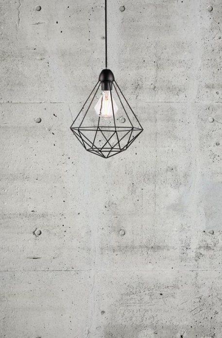 Lampa wisząca industrialny Czarny  - Kuchnia