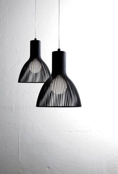 Lampa wisząca industrialny Czarny  - Salon