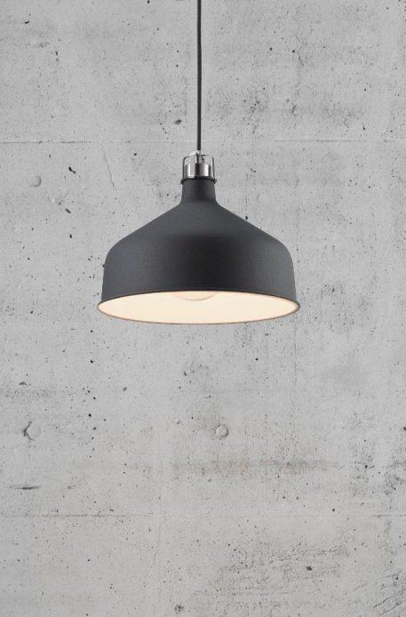 Lampa wisząca industrialny Czarny  - Sypialnia