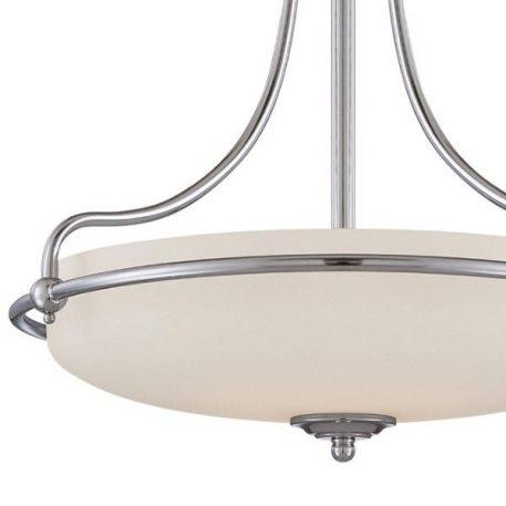 Lampa wisząca klasyczny biały, srebrny  - Kuchnia