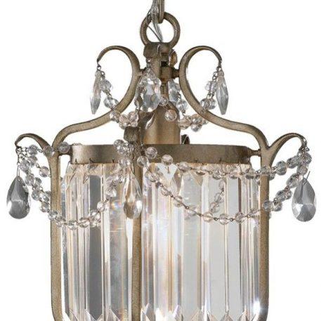 Lampa wisząca klasyczny srebrny, złoty  - Salon