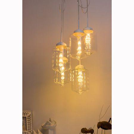 Lampa wisząca - LA011/CO5_clear_white+BF32_LED