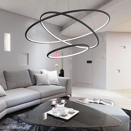 Lampa wisząca - Lampy i oświetlenie LED - Czarny -  - Salon