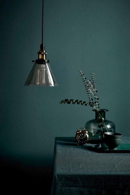 Lampa wisząca - metal, burszytnowe szkło - Nordlux