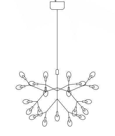 Lampa wisząca - miedziany kolor - STEP