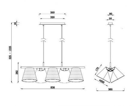 Lampa wisząca - MOD009PL-05N