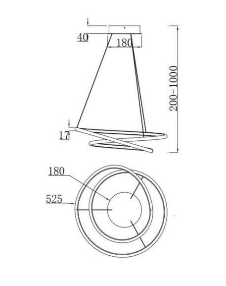 Lampa wisząca - MOD101PL-L47W
