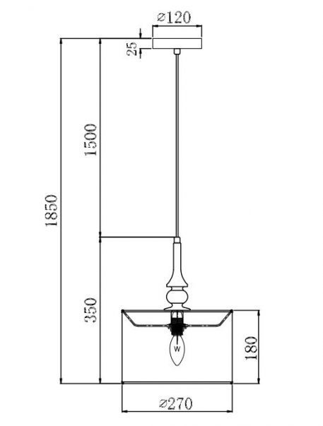 Lampa wisząca - MOD963-PL-01-B