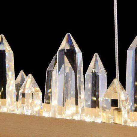 Lampa wisząca - mosiądz, kryształki - Maytoni